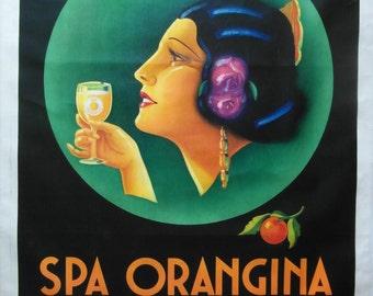 Original 1925 Large Art Deco 'Spar Orangina' Advertising poster