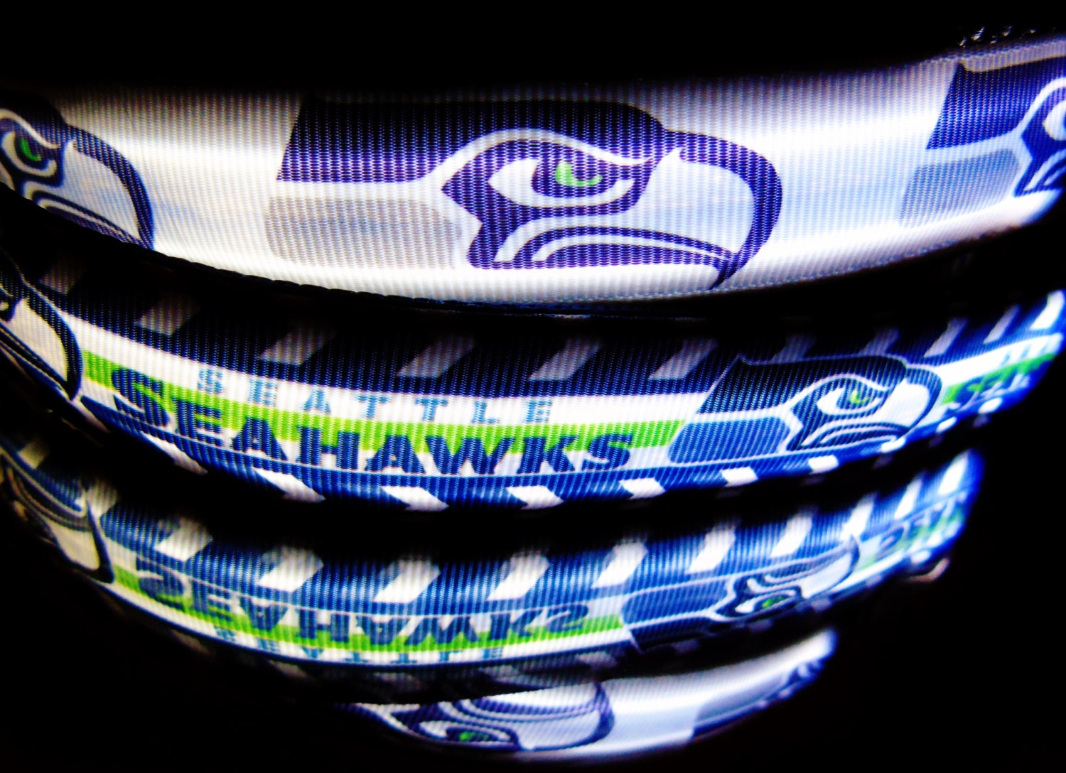 Seattle Seahawks Pink Chevron Printed Acrylic Team Color