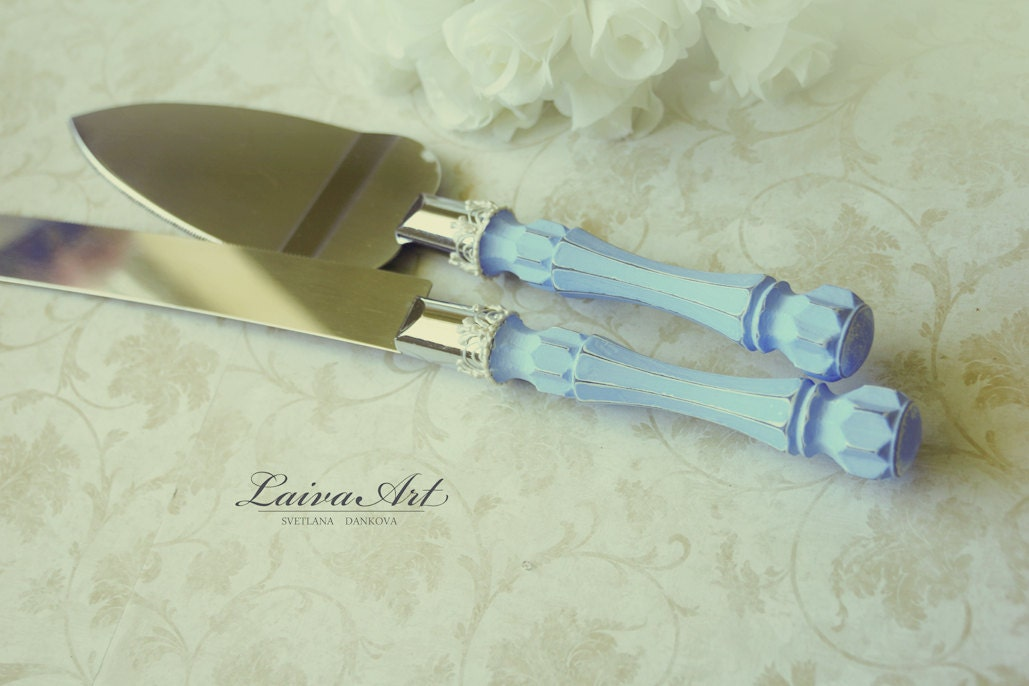 cake cutting knife wedding blue wedding cake server set amp knife cake cutting set wedding 2202