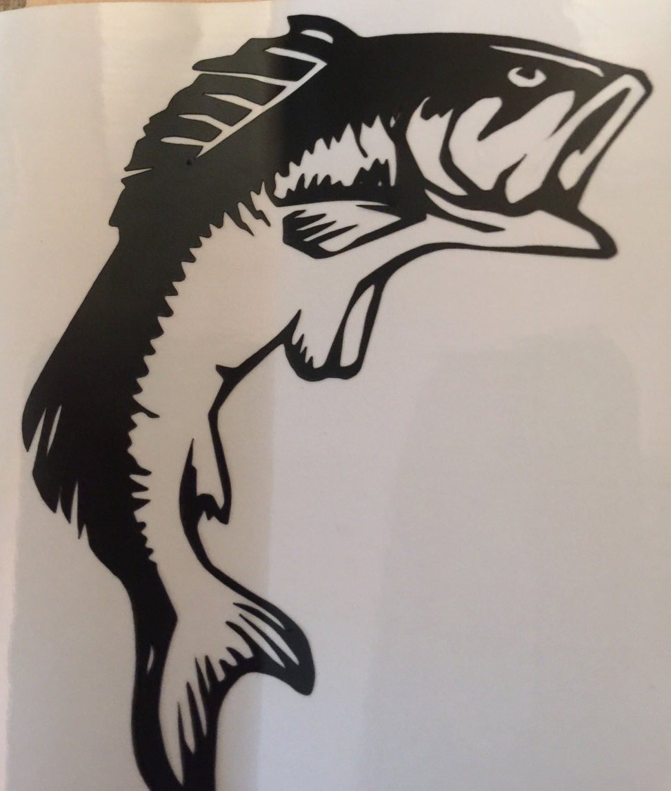 Fish and hook decal fish decal hook decal cup decal yeti for Fishing yeti decal