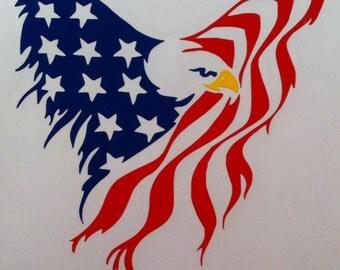American Eagle vinyl decal