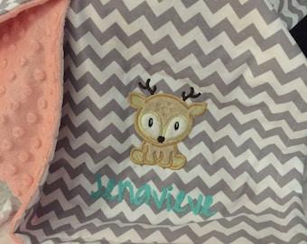 Deer Baby Blanket | Baby Deer Blanket | Woodland Baby Blanket | Reindeer Baby Blanket | Hunting Baby Blanket