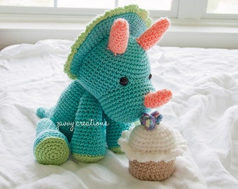 Amigurumi Triceratops | Made to Order