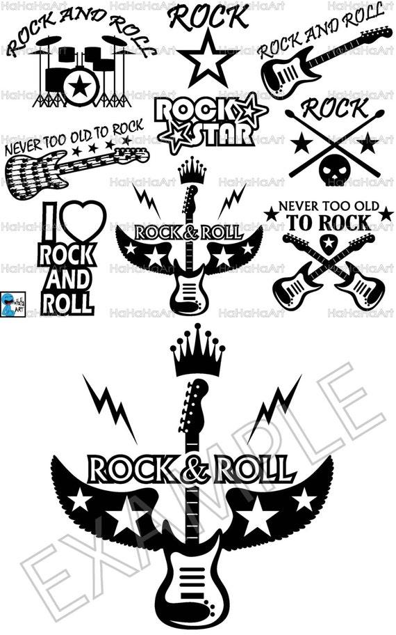 Best Rock And Roll Shirt Design Cutting Files Svg Png Jpg