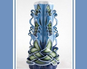 Carved Candle - Decorative candles - Pillar candles - Home decor