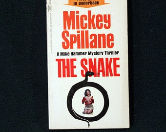 The Snake by Mickey Spillane, Vintage 1964 1st Printing Signet Books Paperback Mystery/Adventure #D2548 SCARCE!