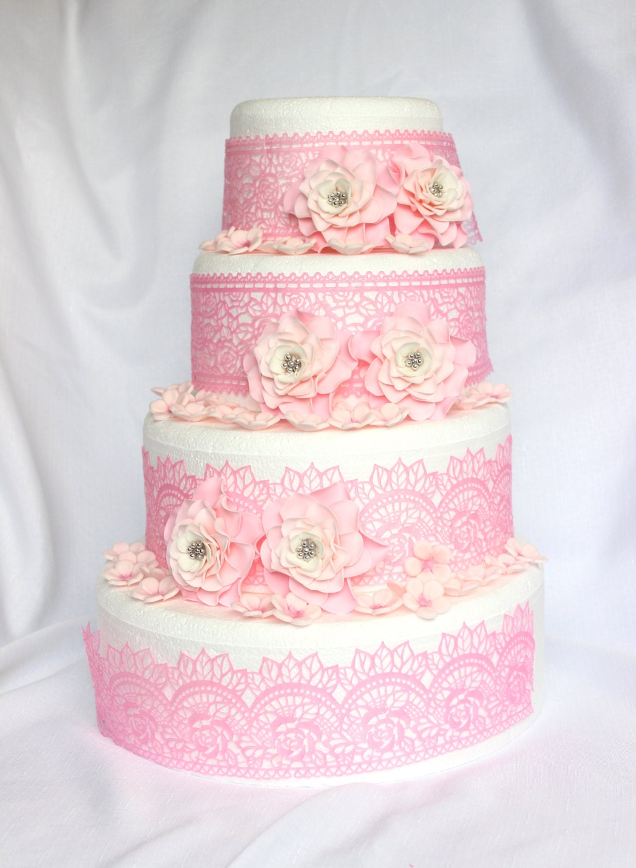 Wedding Cake Flowers 42pcs Cake Topper Cake Decorations Edible