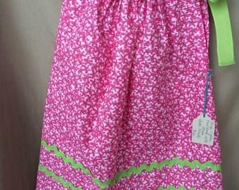 Size 1 Year,Girls Pillow Case Dress, Girls Dress, Toddler Dress, Summer Dress, Hand Made,  Crisp Fabric, Finished Seams, Free Shipping