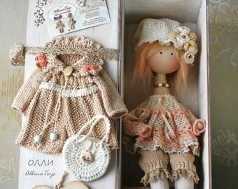 Angel Olli. Textile doll angel.