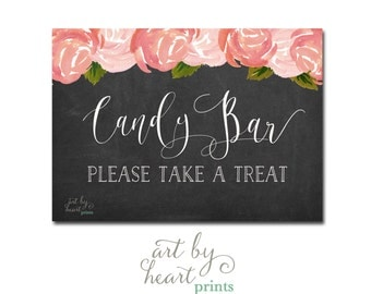 Wedding Candy Table Sign / Wedding Candy Sign / Chalkboard Printable INSTANT DOWNLOAD