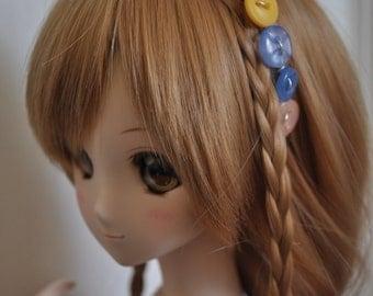 SD 1/3 . Smart Doll . Pullip . Dal . Button Headband . Mix Colour . Purple. Green