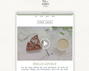 Modern Email Newsletter, Video Promo Link Mailchimp Email Template, Customisable HTML Email Newsletter, Original YouTube Promotional Email