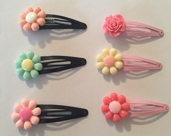 More Flower Hair Clips!