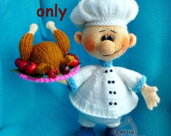 Cook, amigurumi knitting pattern pdf