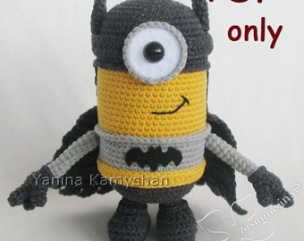 Amigurumi Minion Superheroes : Batman crochet Etsy