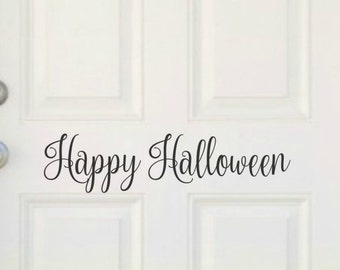 Happy Halloween Door Decal Halloween Decal Halloween Vinyl Decal Halloween Door Decor Happy Halloween Vinyl Front Door Decal Halloween Decor