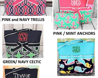 Diaper Bags- Monogrammed --NEW PRINTS