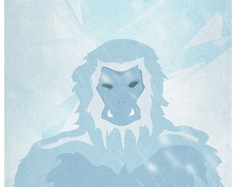 The Yeti And Mount Everest Poster Digital Art Print