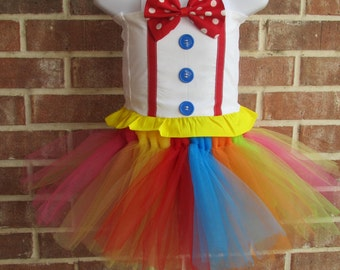 Boutique handmade pageant girls , baby, toddler Carnival Tutu Birthday Circus Clown, Clown Costume, Circus Costume, Clown Tutu, Clown outfit