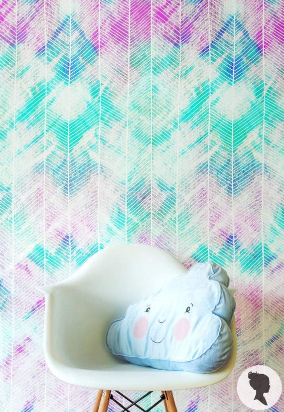 Watercolor Pattern Wallpaper Regular Or Self By Livettes