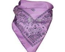 Cotton Candy Bandana in Lavender - festival accessories - pastel goth - kawaii - pastel grunge - rave - edc - mens bandana - purple bandana