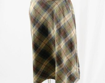 Vintage Sears The Fashion Place Skirt ILGWU Label Made in USA Plaid Union Made