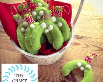Christmas Decoration, Christmas kisses, Mistletoe, Hanging Mistletoe, Mistletoe Decoration, Fun Decorations