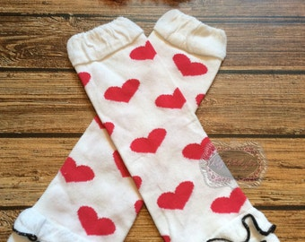 Heart Leg Warmers 1st Birthday Baby Leg Warmers Girls Hot Pink & Black Heart Leg Warmers Matching Headband Photo Prop