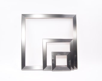 stainless steel square picture frames from 4x4 5x5 8x8 12x12 10x10