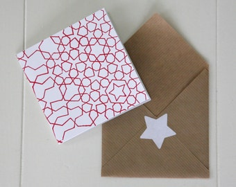 greeting card | star | red
