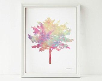Digital print, Tree art print, Tree wall art, Home decor PRINTABLE wall art print, Nature art Tree print, Bedroom wall decor Tree wall print