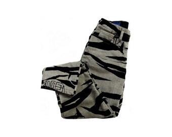 90s KENZO animal High Waist PANTS // size eu 36 -us 4-uk 8