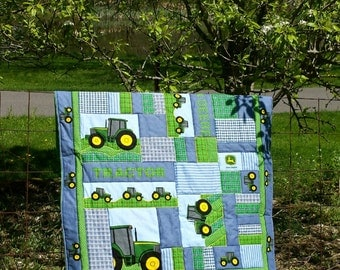 Tractor Crib Quilt