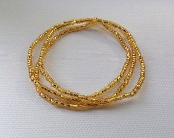 Simple Gold Bracelets, Stretch Bracelets, Gold Bracelets, Stacking Bracelets, Stackable Bracelets, November Birthstone Bracelet