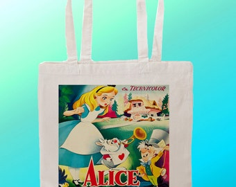 Alice In Wonderland Movie Poster  - Reuseable Shopping Cotton Canvas Tote Bag