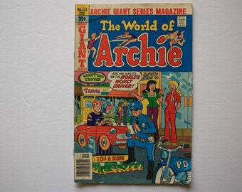 Archie Giant Series Comic Book - the World of Archie - Archie Comic no. 473 vintage comics