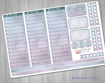 Hourly Stickers for your Erin Condren Horizontal Life Planner, Plum Planner, Filoflax, calendar or scrapbook