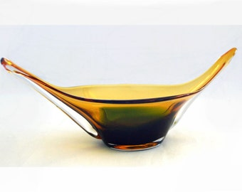 Amber Chalet Glass Credenza Bowl