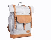 Waxed canvas backpack. Custom order for Danielle