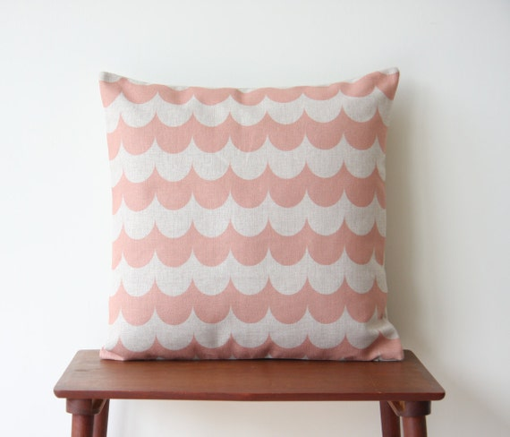 Decorative Pillow Covers 22 X 22 : 22 x 22 Peach Decorative Pillow Cover Chevron by BeadandReel