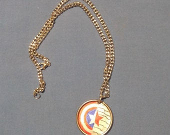 Upcycled Captain America/Winter Soldier Necklace