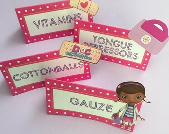 Doc McStuffins Food Labels
