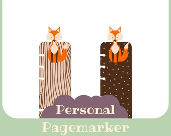 Pagemarker fox - printable - Personal size