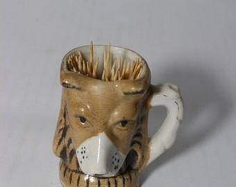 Dog Toothpick Holder Ceramic Cup