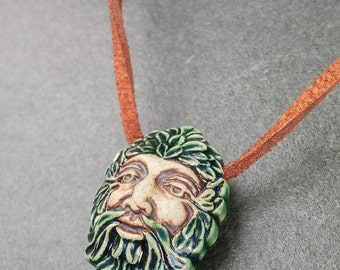 Green Man Necklace