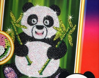 Paz The Panda SEQUIN ART Craft KIT, Brand New For Age 6 plus