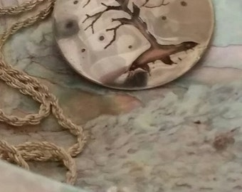 Sterling Silver Overlay Tree of Life