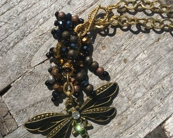 Dragonfly Car Charm | Dragonfly Rearview Mirror Charm | Mirror Charm | Dragonfly Fan Pull | Beaded Car Charm | Beaded Fan Pull