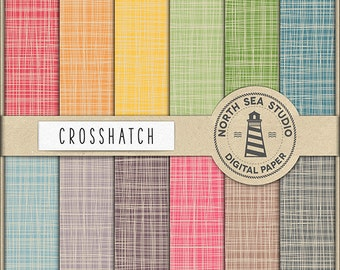 BUY5FOR8 Crosshatch Digital Paper Colorful Crosshatch Paper Linen Patterns Cross Hatch Backgrounds Canvas Textures Instant Download