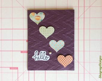 Friendship Greeting Card // Handcrafted Hello Card // Hand Crafted Just Because // Size A2